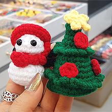 51993发圈发绳, 植物雪人 松树 圣诞 花 编织