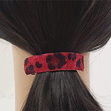 51997边夹顶夹长方形 豹纹 毛毛 弹簧夹
