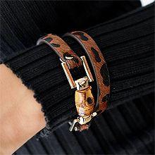51974带子表带, 单层链豹纹  毛毛 木头