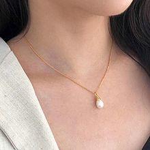 51812锁链形, 单层链水滴形 珠子 天然珍珠