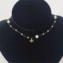 51878珠仔链, 单层链, 天体自然现象珍珠 珠子 圆形 雪花 圣诞