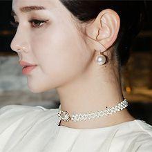 51945穿珠链, 单层链珠子 珍珠 椭圆形