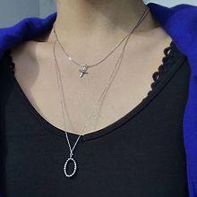 51951锁链形, 多层链椭圆形 十字架 两件套