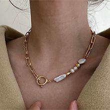 51960锁链形, 单层链巴洛克 圆形 珍珠 珠子