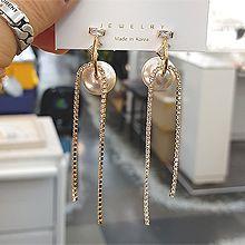 52144耳钉式流苏 珍珠 珠子 长方形