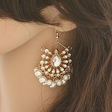 52173钩形水滴形 珠子 珍珠 流苏
