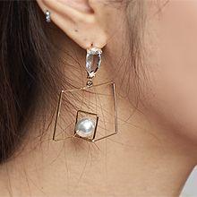 52181耳钉式水滴形 长方形 珠子 珍珠