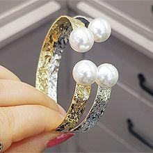 52184手镯形珍珠 珠子 圆形 凹凸不平