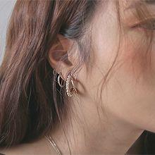 52221耳钉式C形 珍珠 珠子