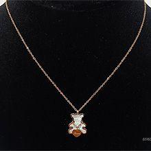 52249锁链形, 单层链, 心形, 字母数字/符号, 动物心形 字母 小熊