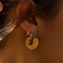 52252耳钉式, 耳圈耳扣圆形