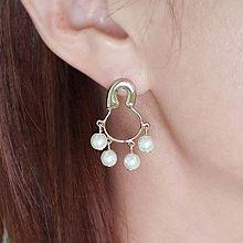 52276耳钉式珍珠 珠子 别针 流苏