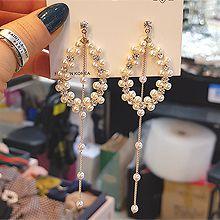 52284耳钉式椭圆形 珍珠 珠子