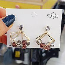 52295耳钉式圆形 珠子 菱形 珍珠