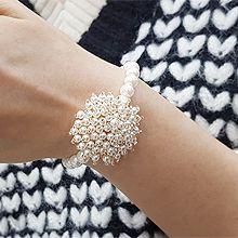 52307珠仔链, 单层链, 植物珠子 珍珠 圆形 花
