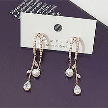 52330耳钉式圆形 水滴形 珍珠 珠子