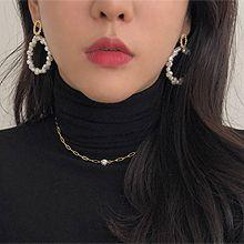 52362耳钉式圆形 珍珠 珠子