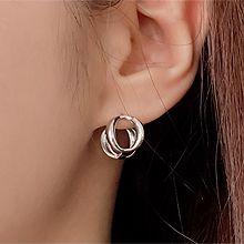 52371耳钉式, 耳圈耳扣圆形 整件925银