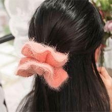 52135发圈发绳纯色 编织 毛毛