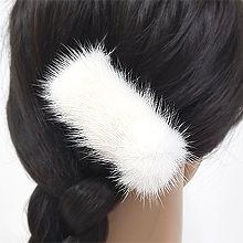 52175边夹顶夹长方形 毛毛 纯色 鸭嘴夹