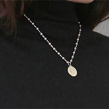 52210穿珠链, 单层链, 字母数字/符号, 人物人体珍珠 珠子 人 字母 圆形