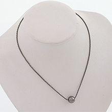 52376单层链珠子 圆形 蛇链 整件925银