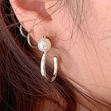49554耳钉式珠子 S形