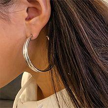 49560耳钉式, 平面/立体几何图形圆环 C型