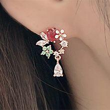 49567耳钉式, 心形, 植物, 人物人体心形 花 蝴蝶 水滴形