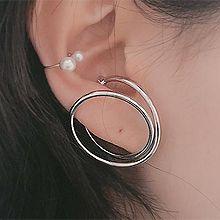 49570耳钉式圆环 圆形 不对称