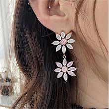 49673耳钉式, 植物, 平面/立体几何图形花