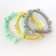 49690发圈发绳, 蝴蝶结, 植物蝴蝶结 花 彩色 珠子