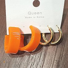 49729耳钉式, 耳圈耳扣C形 圆环 四件套