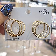 49748耳钉式珠子 螺旋形 不对称