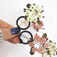 49598边夹顶夹, 植物花 叶子 圆形 圆环