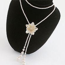 49653穿珠链, 多层链, 植物花 珠子 双层