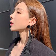 49797耳钉式, 平面/立体几何图形流苏 圆形 珠子