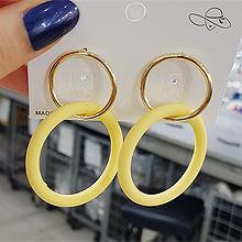 49805耳钉式, 平面/立体几何图形圆形 圆环