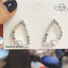 49885耳钉式三角形 珠子