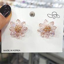 49897耳钉式, 植物花 透明