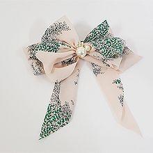 49918边夹顶夹, 蝴蝶结, 植物, 平面/立体几何图形叶子 蝴蝶结  弹簧夹 珠子