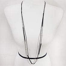 49920锁链形, 多层链, 平面/立体几何图形珠子 圆形 三层 长款