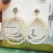49958耳钉式圆环 珠子 圆形 缠绕