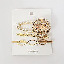 50012边夹顶夹, 人物人体, 平面/立体几何图形笑脸 圆形 珠子 三件套