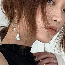 50043耳钉式, 平面/立体几何图形珠子 水滴形 圆形
