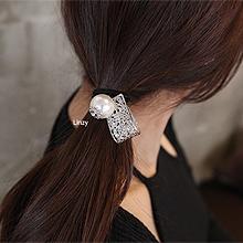 49827发圈发绳, 平面/立体几何图形镂空 圆形 珠子