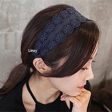 49894发箍发带, 平面/立体几何图形蕾丝 发箍  纯色