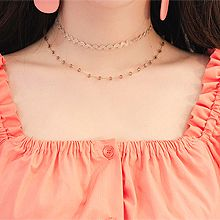 49987珠仔链, 绳子形, 多层链, 平面/立体几何图形双层 圆形 珠子 波浪形