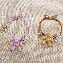 50061发圈发绳, 动物, 平面/立体几何图形珠子 圆形 小熊