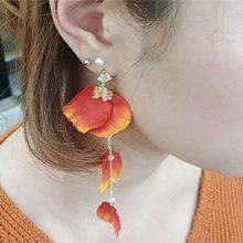50084耳钉式, 平面/立体几何图形花瓣 圆形 珠子